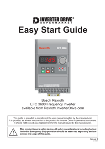 Bosch Rexroth EFC3600 Easy Start Guide