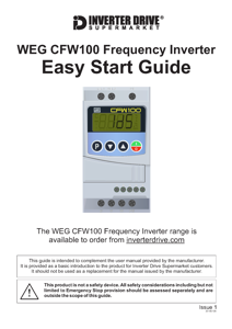 WEG CFW100 Easy Start Guide